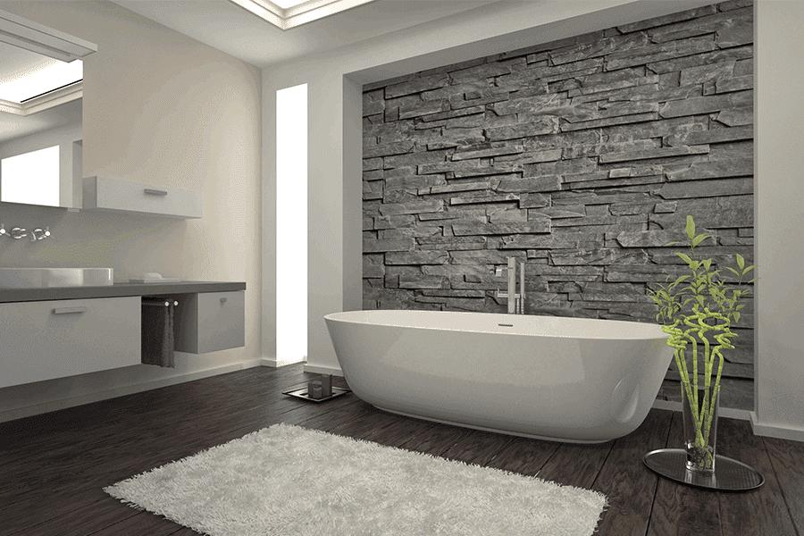 Come progettare bagni per hotel: carta da parati